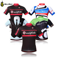 Wolfbike Bicycle Cycle T-Shirts Bicicleta Ciclismo Maillot Mountain Bike Cycling Jersey Men Sports Clothing