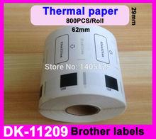 8x ROLLS 38 x 90mm DK11209 Brother Compatible thermal printer address labels etiketten
