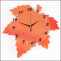 NEW Creative Maple Leaf wall clock bedroom garden wall clock factory outlets Household Items Christmas Gifts cy027