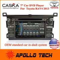 7 Inch Car DVD Player GPS Navigation Digital TV Bluetooth MP3 IPOD CA371-UQC8 for Toyota RAV4 2013 high quality car dvd player