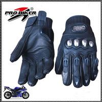 motorcycle glovesWaterproof Warm racing gloves knight leather ride gloves motorcycle gloves XL Black