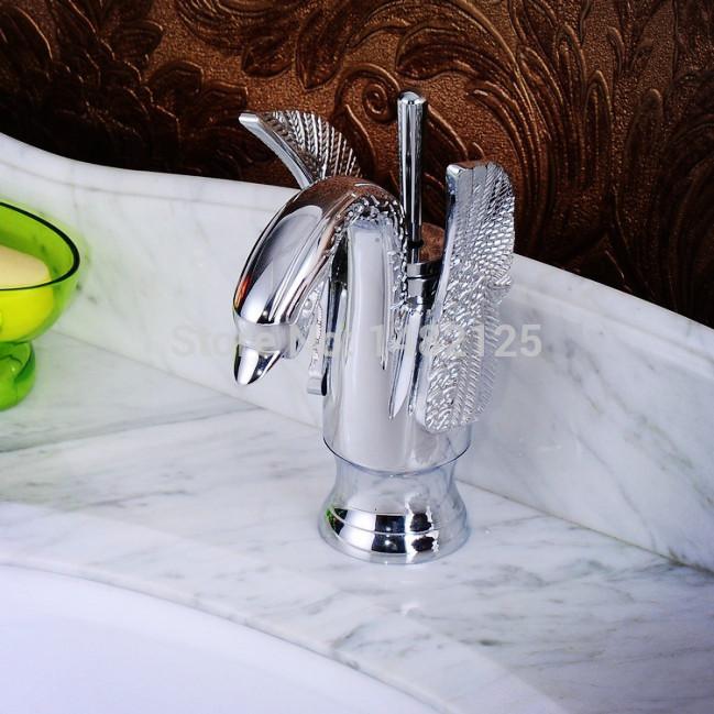 Free Shipping Luxury Hotel Swan Basin Faucet(China (Mainland))