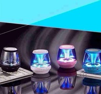 X-28/HS-009 Ultra Portable Transparent Magic Lamp Wireless Bluetooth Speaker Built-in FM with Calls for Laptop Mobile Phone