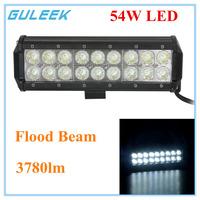 54W Type/C 6000K 18-Cree XB-D LED Double Rows Work Light Bar DIY Used in Car/Boat/Auto Headlight Flood