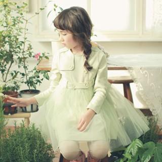 Autunno 2014 principessa ragazze lungo- maniche lunghe caramella di colore di amaro fleabane amaro fleabane gonna di garza gonna spedizione gratuita