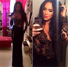Long Maxi Lace Dresses High Split Evening Party Elegant Long Dress D