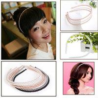 Korean Styles Multi Colors Pearl Headband Lady/Girls White Pearl Beads Headband Hairband Bridal Pearl Hairband Hairwear