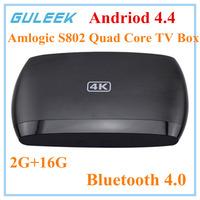GLK-S6 Android 4.4 4k Smart TV Box with AML-S812 Cortex A9 CPU,WIFI,LAN,Bluetooth,USB,HDMI