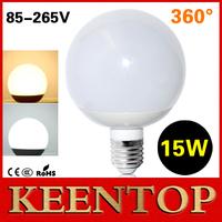 1Pcs New LED Globe Bulb E27 Energy Saving Lamps 15W AC85V-265V Christmas Chandelier SMD5730 360 Degree Light R90 Wall Lighting
