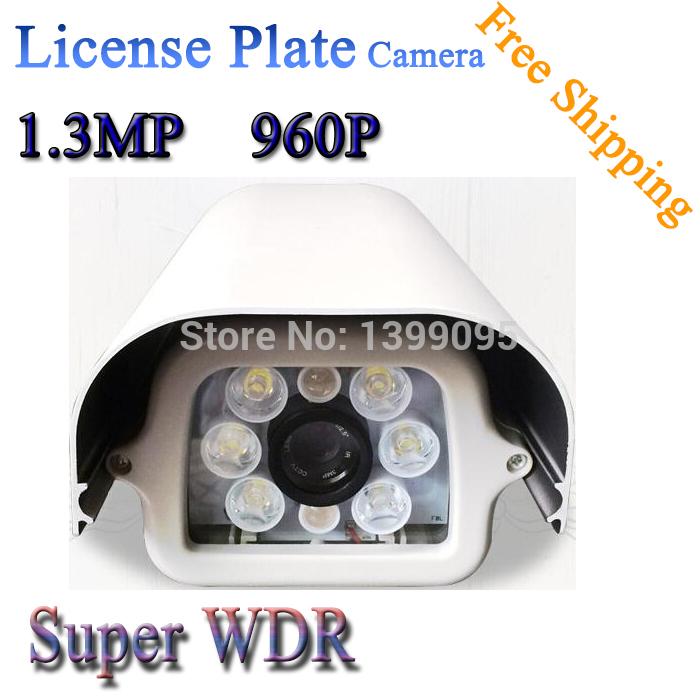 frete grátis, 960p licença de carro placa de captura câmera, hd câmera de rede(China (Mainland))