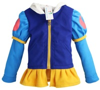 Retail Free shipping Autumn Winter New Arrival girl princess jacket,snow white hooded coat,costume jacket