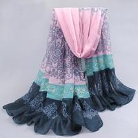 2014 New Fashion Print Women's Warm Soft Scarf Lady Thin Long Design Cotton Scarves Wrap Autumn Winter Shawl