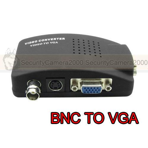 Free Shipping CCTV Camera BNC To VGA CRT LCD Monitor Video Converter Adapter(China (Mainland))