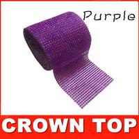 "4.75""x 1 Yards Wedding decoration Purple Crystal Ribbon Christmas decorations Wrap/ ribbon"