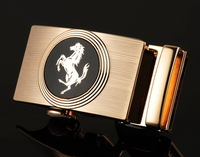 cow genuine leather belt men high quality automatic alloy buckle horse buckle strap fashion style cintos