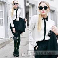 2015 new arravial women's long sleeve chiffon blouse european styles elegant shirts Free shipping