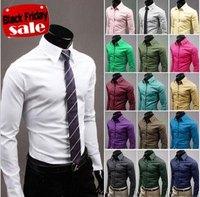Новый blusas мужской мужской рубашке твердых хлопка рубашка Мужская повседневная с длинным рукавом рубашки случайным slim fit формальных camisa рубашка