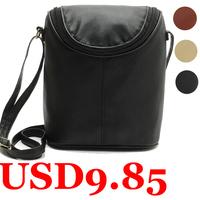 New Designer Women Shoulder Bag Leather Vintage Crossbody Bag Bucket Women's Messenger Bag Small Ladies Handbag Desigual Black
