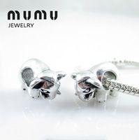 New Style Simple Jewelry Accessories For Women Cute Dairy Cow Beads Fit All European Style Charm Bracelets