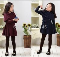 new fashion spring autumn winter children clothing girl long-sleeve coat Shawl windbreaker jacket set dress kid clothes outwear