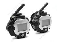 Free shipping!OT-06 New Mini Watch Walkie Talkie Two-Way Radio Intercom VOX PTT Auto A Pair
