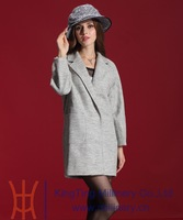 Wool & Blends Coats for women 2014 autumn winter New Fashion trench coat women's outerwear jacket Free Shipping