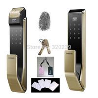 2014 Samsung EZON SHS-P910 Fingerprint Digital Door Lock / Push Pull Door Lock+4 RFID Card +2 Tag Card