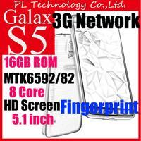 "Hot Sale S5 i9600 5.1"" Octa Core / Quad core Android 4.4 3G WCDMA Smartphone 8Mp Unlocked cell phones Original Logo Mobile G900"