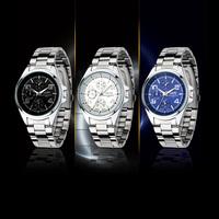 2014 New Fashion Designer Sports Casual Watch Women Quartz Watches For Men Stainless Steel WristWatch Relogio Masculino