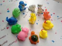 DHL EMS Free shipping Children baby swimming toys mini vocalization animal 12 kinds of animals hot sale 12pcs/set 100set/lot