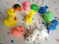 DHL EMS Free shipping Children baby swimming toys mini vocalization animal 12 kinds of animals hot sale 12pcs/set 40set/lot
