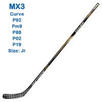 Factory sale ! 2014 New arrival MX3 NHL Hockey Stick  Jr Flex grip full Carbon Hockey Sticks Free shipping