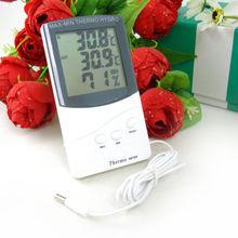 1x Digital LCD interior / exterior termómetro higrómetro temperatura humedad medidor(China (Mainland))