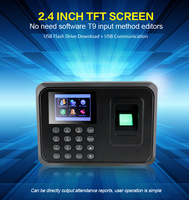 Free Shipping Biometric Fingerprint Time Attendance Time Clock Recorder Employee Digital Electronic Attendance Machine