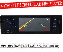 4,1 » дюйма TFT экран HD автомобиль радио-плеер, USB SD AUX IN 1080P фильм, камера заднего вида, радио, 1 DIN автомобильных аудио стерео mp5