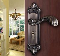 Zinc Alloy Lever Handle Mute Door Handle Lock Entry Lever Leverset Lockset