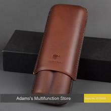 Cohiba для обрезки сигар Pigg устанавливает два набора портативный супер хьюмидор кожа коричневый элегантность