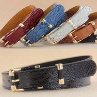 2014 New Women's Belts Fashion Thin All-Match Belt snake type plating Decoration Genuine Leather Belt Strap Wholesales