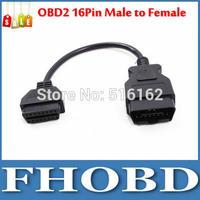 OBD OBD2 16Pin Male to Female Extension Cable Transfer Connector 30cm OBD II Cable