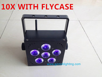 Freedom led quad 6*18W RGBAW+UV 10pcs with flightcase free shipping by DHL