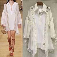 Italian Designers Dress 2015 Runway Brand Luxury Knee Length Women Party Dress Free Shipping