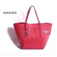 New 2014 Mango handbag fashion serpentine pattern women handbag shoulder bag brand MNG shopping bag famous brand women bag  tote