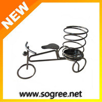 Wrought iron bicycle pen desktop brief fashion decoration