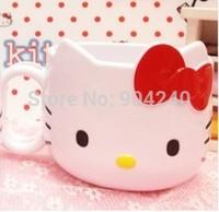 Free Shipping Hello Kitty Cartoon Plastic Coffee Milk Mug Cup Tooth Mug Tooth-Brushing Cup