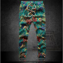 New 2014 autumn mens fashion pants flower print slim casual pants men linen trousers joggers Nine minutes pants plus size S-6XL(China (Mainland))