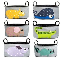 New 1PCS Lovely Baby Animal Stroller Accessories Storage Bottle Diapers Organizer Bag Handbag Organizer Travel Bag EJ672607