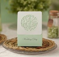 100 Pieces 2014 Wedding Candy Boxes Hollow Flower Bird Shape Free Shipping Light Green