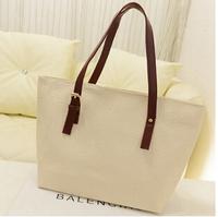 WOMEN BAGS PU LEATHER HANDBAGS TOTE FAHSION SHOULDER 6 COLOR FOR YOU GOOD QUALITY  handbag size:(43*28*8)cm HB03