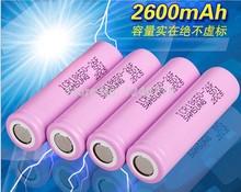 10X  Pcs 3.7V 18650 battery samsung 2600mah  Li-ion Rechargeable Battery for Flashlight Hot New 3.7v