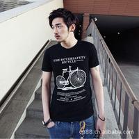 2014 new foreign trade summer T-shirt Black Men Men T-shirt a generation of fat B12